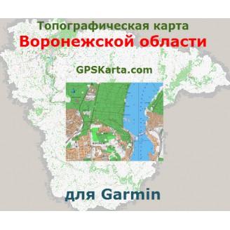 Топографическая карта Воронежской области v2.5 для Garmin (IMG)