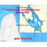 Рыбинское водохранилище SonarHD карта глубин для Garmin (IMG)