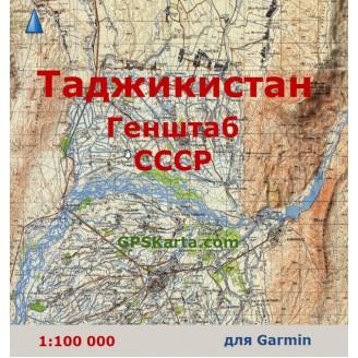 Топографическая карта Таджикистана для Garmin (IMG)