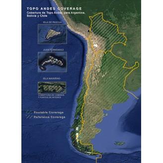 Топографическая карта Анды. Аргентина, Боливия, Чили. Топография v5.00 (2016.20)