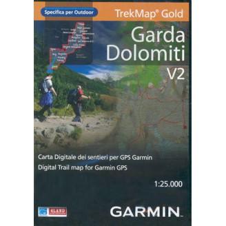 Карта для Garmin - Гарда, Доломитовые Альпы v2