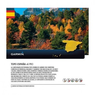 Карта для Garmin - Испания TOPO Spain v6 PRO