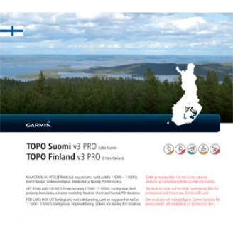 Карта для Garmin - Финляндия TOPO Finland v3 PRO