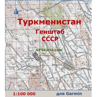 Топографическая карта Туркменистана для Garmin (IMG)