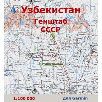 Топографическая карта Узбекистана для Garmin (IMG)