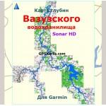 Карта глубин яузского водохранилища