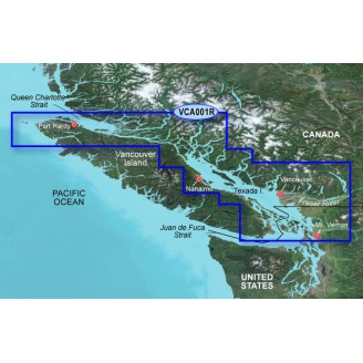 Канада, Пролив Королевы Шарлотты, пролив Джорджии VCA001R BlueChart G2 Vision