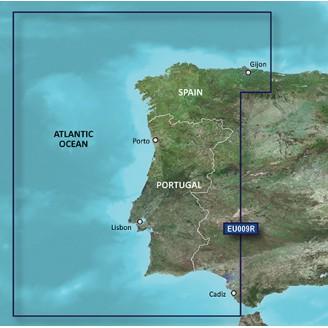 Побережья Португалии, Северо-запад Испании VEU009R BlueChart G2 Vision