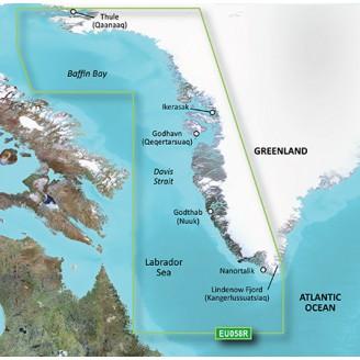 Гренландия - западное побережье, Море Лабрадор, залив Баффина VEU058R BlueChart G2 Vision