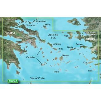 Эгейское море, Кикладские острова, Греция, Турция,  Афины, Измир VEU450S BlueChart G2 Vision