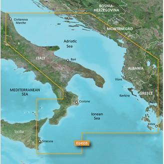 Адриатическое море юг, Ионическое море, Италия, Греция, Албания, Черногория VEU453S BlueChart G2 Vision