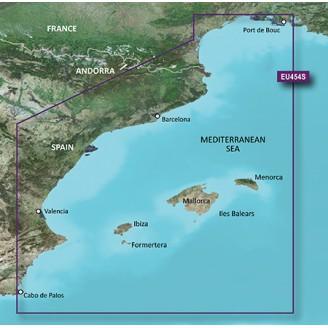 Барселона, Валенсия, Балеарские острова, Средиземное море VEU454S BlueChart G2 Vision