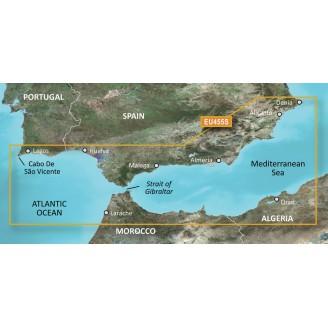 Атлантический океан, Гибралтар, Средиземное море, Аликанте, Мыс Сан-Висенте VEU455S BlueChart G2 Vision