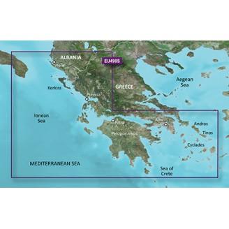 Ионическое море, западное побережье Греции, Албания,  Афины VEU490S BlueChart G2 Vision