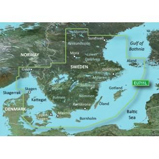 Швеция Юг, Балтийское море, Пролив Каттегат VEU711L BlueChart G2 Vision