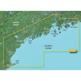 США, штат Мэн южная часть, Атлантический океан VUS002R BlueChart G2 Vision