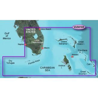 США, Флорида Юго-Восток,  Багамские острова, Карибское море, Драй-Тортугас VUS010R BlueChart G2 Vision HD