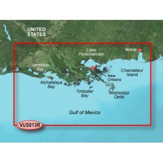 США, Мексиканский Залив, побережье от Мобил до Карлес VUS013R BlueChart G2 Vision