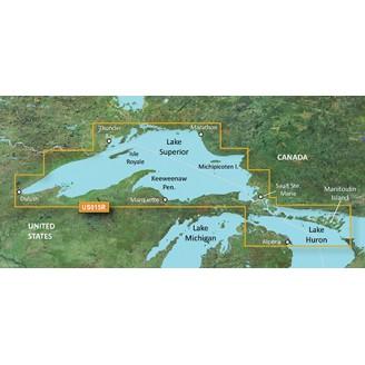 США, Канада,  Озеро Сьюпириор, озеро Верхнее VUS015R BlueChart G2 Vision