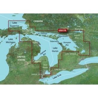 США, Канада, озеро Гурон, озеро Сент-Клэр, Джорджиан-Бей VUS017R BlueChart G2 Vision
