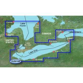 США, Канада,  озеро Эри, озеро Сент-Клэр, озеро Гурон, озеро Онтарио VUS018R BlueChart G2 Vision