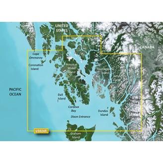Канада, остров Врангеля, вход в Диксон, Аляска VUS024R BlueChart G2 Vision