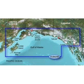 США, Канада, залив Аляска, побережье от Анкоридж до  Джуно VUS025R BlueChart G2 Vision