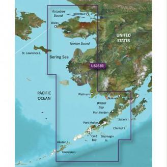 Тихий океан, Берингово море, Аляска от  Залив Бристоль до Коцебу-Саунд VUS033R BlueChart G2 Vision