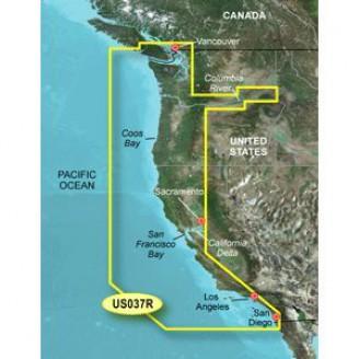 Тихий океан, побережье от Ванкувер до Сан Диего VUS037R BlueChart G2 Vision
