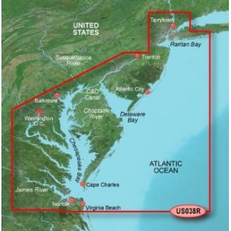 Атлантический океан, побережье от Нью-Йорк до Чесапик,  Чесапикский залив VUS038R BlueChart G2 Vision