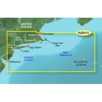 Атлантический океан, побережье от Бостон до Норфолк, отмель Джорджа VUS511L BlueChart G2 Vision