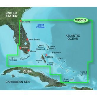 Атлантический океан, Багамы, Большая Багамская отмель VUS513L BlueChart G2 Vision