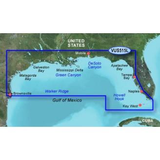 Мексиканский залив,  побережье от Браунсвилл до Ки-Ларго VUS515L BlueChart G2 Vision