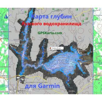 Карта глубин Яузского водохранилища SonarHD