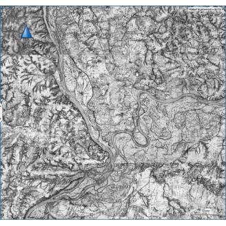 Топографическая старинная карта Казанской губернии 1860г