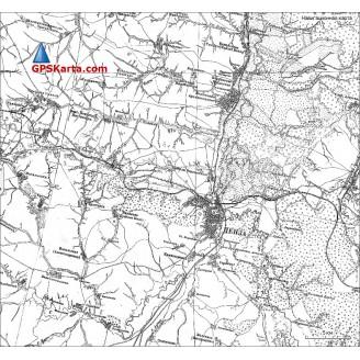 Топографическая старинная карта Пензенской области 1870г