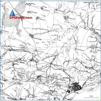 Топографическая старинная карта Саратовской губернии 1870г