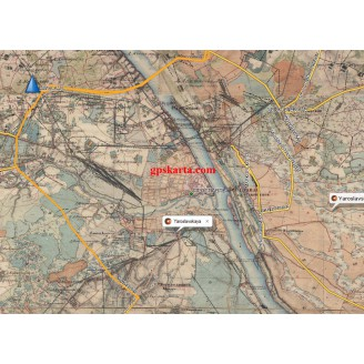 Топографическая старинная карта Ярославской губернии 1850г