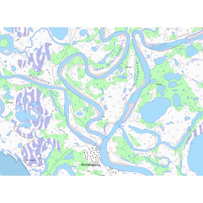 Вид карты на хэндхэлде