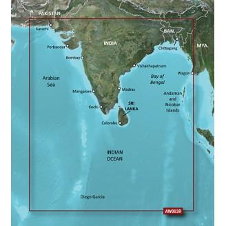 Индия Пакистан Бангладеш Мьянма VAW003R 2014 (15.50) BlueChart G2 Vision