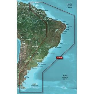 Восточное побережье Южной Америки 2014.5 (16.00) VSA001R BlueChart G2 Vision