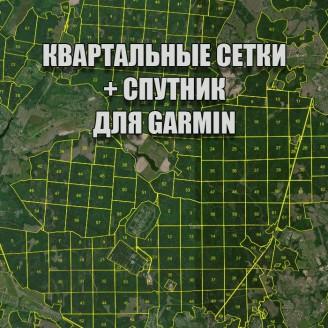 Гагаринское лесничество квартальная сетка Garmin