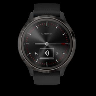 Garmin Vivomove 3 черные с черным силиконовым ремешком (010-02239-21)