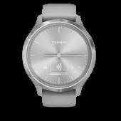 Garmin Vivomove 3 серебристые с серым силиконовым ремешком (010-02239-20)