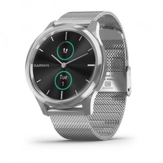 Garmin Vivomove Luxe серебристый с серебристым браслетом (010-02241-23)