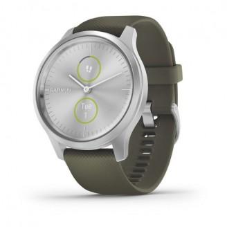 Garmin Vivomove Style серебристый с травяным силиконовым ремешком (010-02240-21)