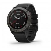 Garmin Fenix 6X Sapphire DLC серые с черным ремешком (010-02157-11)