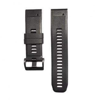 Ремешок сменный Garmin QuickFit 26 силикон, черный с черной пряжкой (010-01733-20)