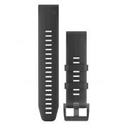 Ремешок сменный Garmin QuickFit 26 силикон, черный с черной пряжкой (010-01989-20)
