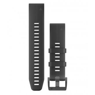 Ремешок сменный Garmin QuickFit 26 силикон, черный с черной пряжкой OEM (010-01989-20)